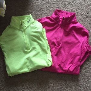 Bundle of Nike Therma Fit quarter zip up